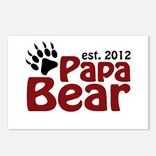 Papa Bear Claw Est 2012 Postcards (Package of 8)
