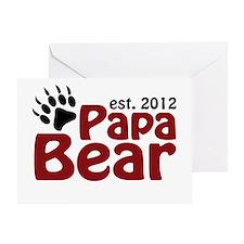Papa Bear Claw Est 2012 Greeting Card