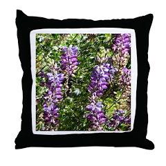 California Lupine Throw Pillow