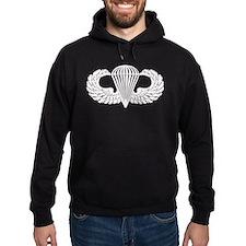 Parachutist -- B-W Hoodie