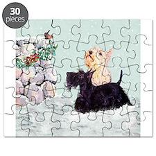 Scotties and Wren Winter Puzzle