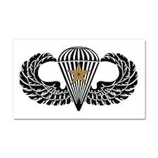 Combat Parachutist 1st -- B-W Car Magnet 20 x 12