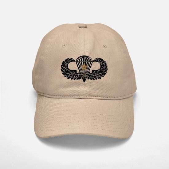 Combat Parachutist 1st -- B-W Baseball Baseball Cap