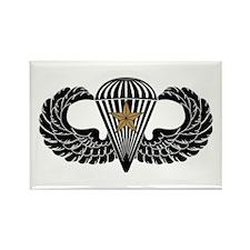 Combat Parachutist 1st -- B-W Rectangle Magnet
