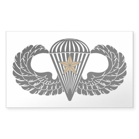Combat Parachutist 1st -- B-W Sticker (Rectangle)