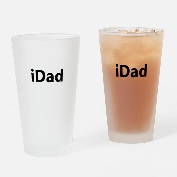iDad (black font) Drinking Glass