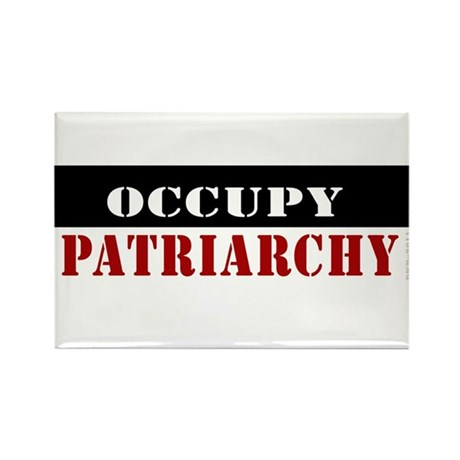 #Occupy Patriarchy Rectangle Magnet