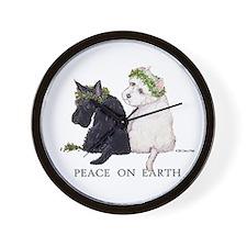 Scottish Terrier Westie Xmas Wall Clock