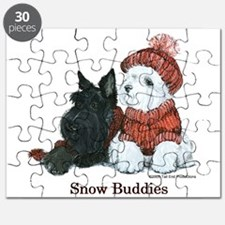Scottish Terrier & Westie Sno Puzzle