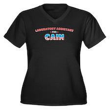 Laboratory assistant for Cain Women's Plus Size V-