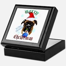 Wonderful-Christmas Boxer Dog Keepsake Box