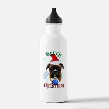 Wonderful-Christmas Boxer Dog Water Bottle