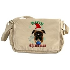 Wonderful-Christmas Boxer Dog Messenger Bag
