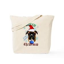 Wonderful-Christmas Boxer Dog Tote Bag