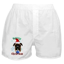 Wonderful-Christmas Boxer Dog Boxer Shorts