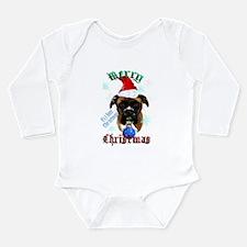 Wonderful-Christmas Boxer Dog Long Sleeve Infant B