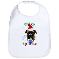 Wonderful-Christmas Boxer Dog Bib