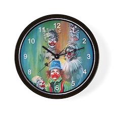 Parade of Clowns Wall Clock