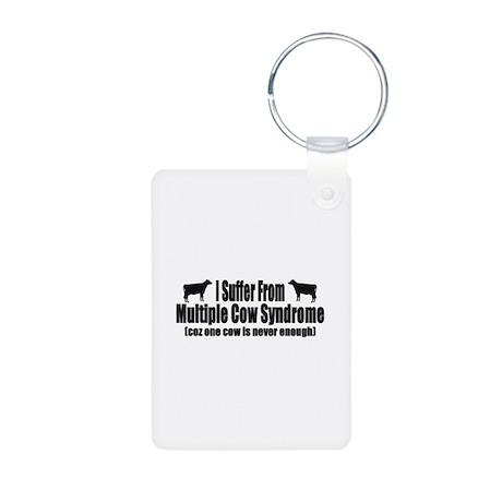 Multiple Cow Syndrome Aluminum Photo Keychain