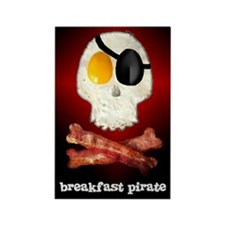 Breakfast Pirate... Rectangle Magnet