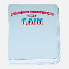 Insurance underwriter for Cai baby blanket