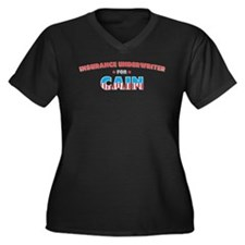 Insurance underwriter for Cai Women's Plus Size V-