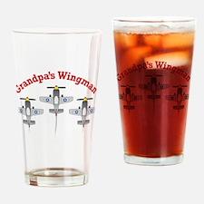 Aviation Grandpa's Wingman Drinking Glass