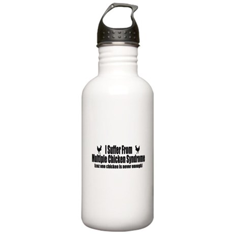 Multiple Chicken Syndrome Stainless Water Bottle 1