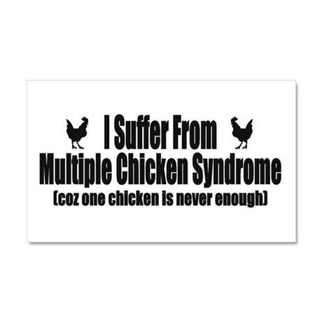 Multiple Chicken Syndrome Car Magnet 20 x 12