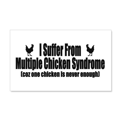Multiple Chicken Syndrome 22x14 Wall Peel