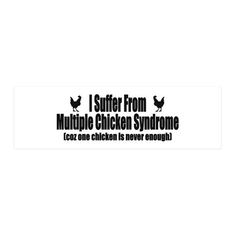 Multiple Chicken Syndrome 21x7 Wall Peel