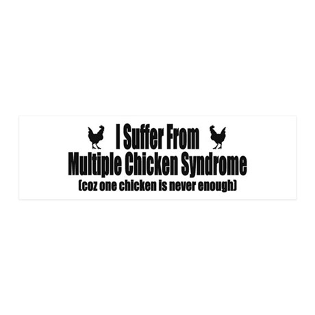 Multiple Chicken Syndrome 42x14 Wall Peel