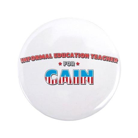 "Informal education teacher fo 3.5"" Button"
