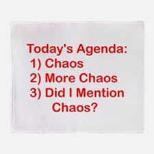 Today's Agenda: Chaos Throw Blanket