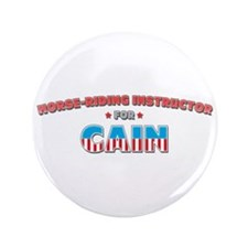 "Horse-riding instructor for C 3.5"" Button"