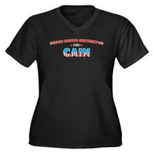 Horse-riding instructor for C Women's Plus Size V-