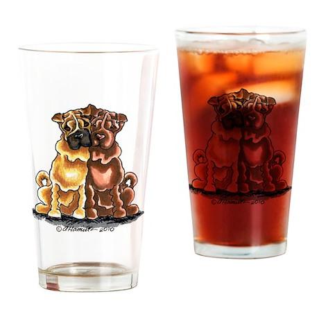 Shar Pei Lover Drinking Glass
