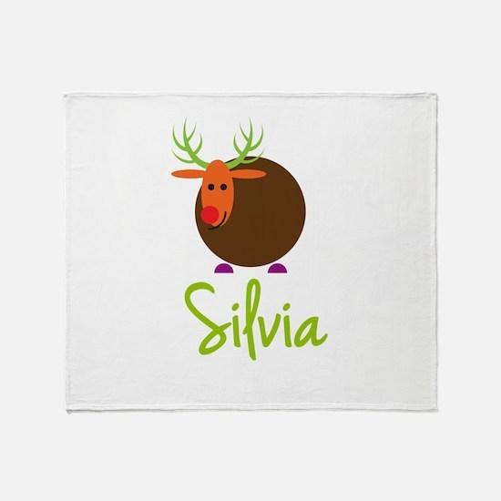 Silvia the Reindeer Throw Blanket