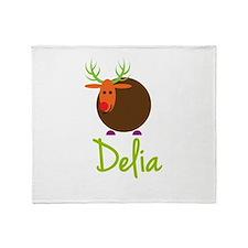 Delia the Reindeer Throw Blanket