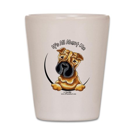 Chinese Shar Pei IAAM Shot Glass