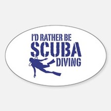 I'd Rather Be Scuba Diving Decal
