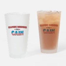 Graphic designer for Cain Drinking Glass
