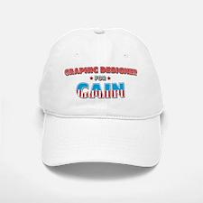 Graphic designer for Cain Baseball Baseball Cap