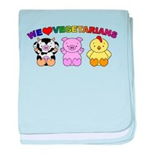 We Love Vegetarians baby blanket
