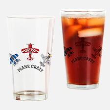 Aviation Plane Crazy Drinking Glass