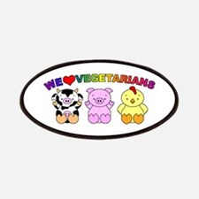 We Love Vegetarians Patches