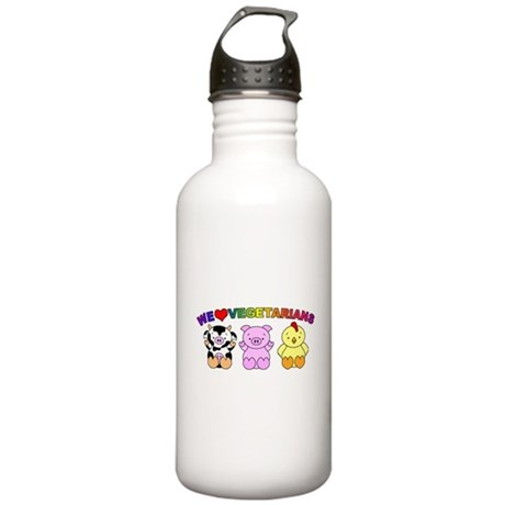 We Love Vegetarians Stainless Water Bottle 1.0L