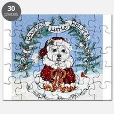 Santa West Highland White Ter Puzzle