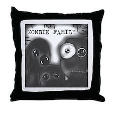 "Staticthread's ""Zombie Family"" Throw Pillow"