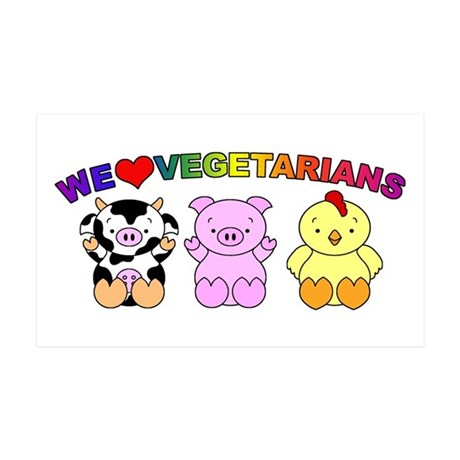 We Love Vegetarians 38.5 x 24.5 Wall Peel
